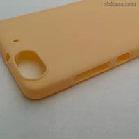 Силиконовый матовый чехол для Huawei Honor 4C (персиковый)