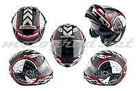 Шлем трансформер LS2 FF370 бело-черный + солнцезащитные очки