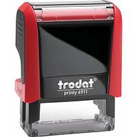 Оснащення TRODAT Printy 4911, 38х14 мм, корпус: червоний, помаранчевий (4911 P4) (Австрія)