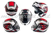 Шлем трансформер LS2 FF370 красно-белый + солнцезащитные очки