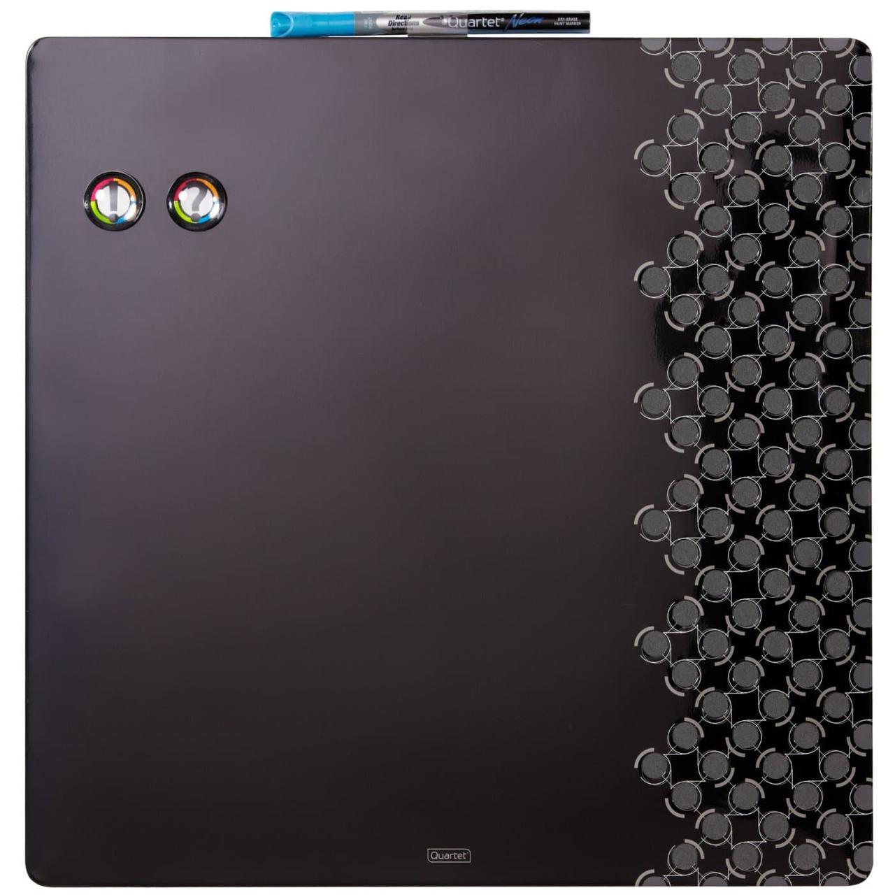 Магнитно-маркерная доска Rexel Quartet 355х355мм,  черная без рамки (1903893)