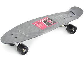 Скейт Profi Penny Board Black (MS 0851)