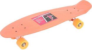 Скейт Profi Penny Board Orange (MS 0851)