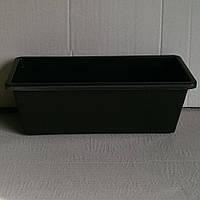 Скринька балконова 40 см коричнева