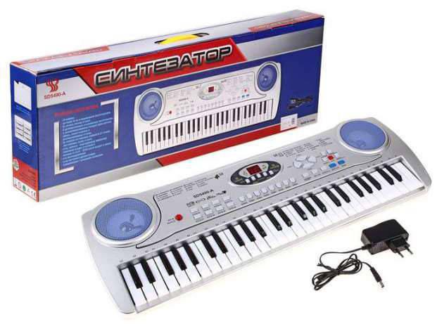Детское пианино-синтезатор SD-5490 с микрофоном, фото 2