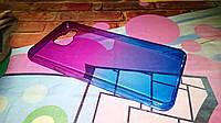 Чехол для Samsung Galaxy A3 2016 A310 TPU пурпурно-синий