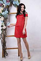 Красное женское платье Амалия ТМ Irena Richi 42-48 размеры