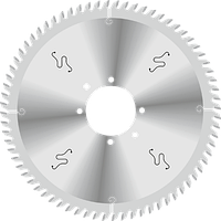 Пила D400B4,4b3,2d80z72 для пильных центров (зубья трапеция) GDA Италия, фото 1