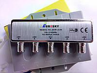 Коммутатор для спутникового ТВ DiSEqC 4x1 EuroSky DSW-4130 В кожухе