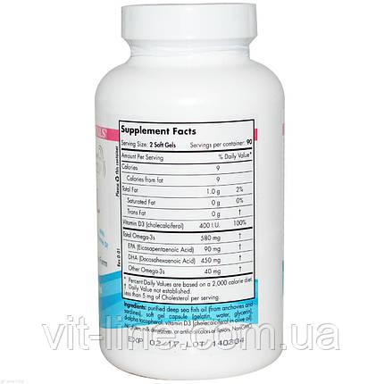 Nordic Naturals, Омега 3 DHA для беременных, формула без ароматизаторов, 500 мг, 180 желатиновых капсул, фото 2