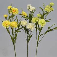 Гвоздика кустовая белая желтая 70см Цветы искусственные