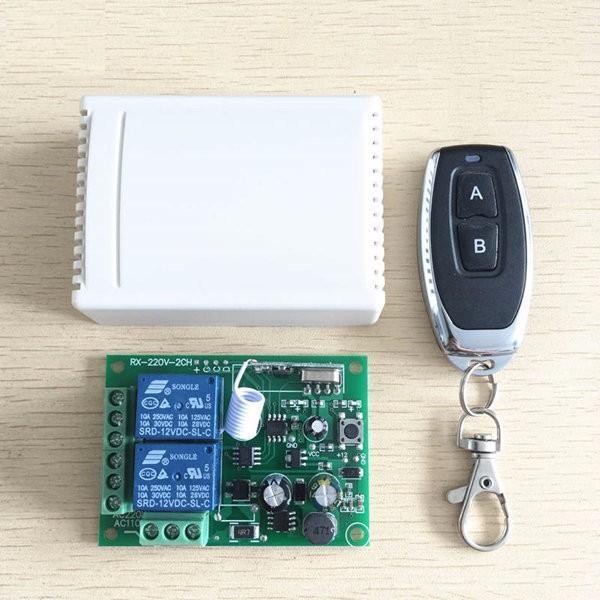 Радиоуправляемый модуль, 2-х канальный 433МГц/220V +1 пульт
