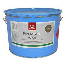 Цветная пропитка с добавлением воска PINJASOL WAX (Тиккурила) серый