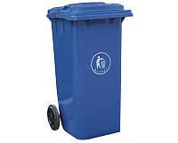 Бак для мусора пластиковый 360 л. синего цвета