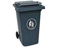 Бак для мусора пластиковый антрацит 360 л. темно-серого цвета