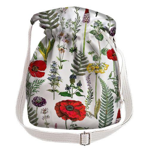 562ecc34193b Белая сумка торба женская с принтом маковое поле - MalvaOpt в Хмельницком