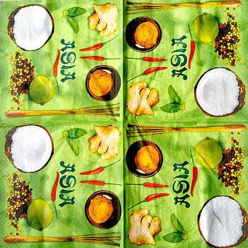 Салфетка декупажная 33x33 см 14 Asia