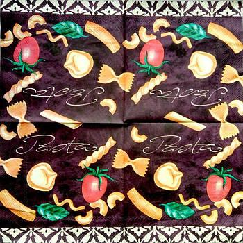 Салфетка декупажная 33x33 см 14 Pasta 2