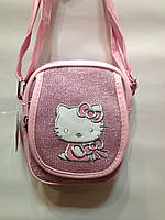 "Сумка детская ""Hello Kitty""блестящая через плечо, фото 1"
