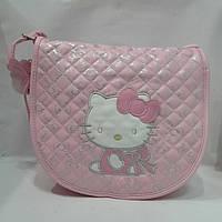 """Сумка детская """"Hello Kitty""""стёганная через плечо большого размера"""