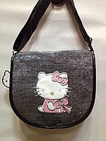 """Сумка детская """"Hello Kitty""""блестящая через плечо среднего ра, фото 1"""