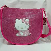 """Сумка детская """"Hello Kitty"""" блестящяя через плечо большого размера, фото 1"""