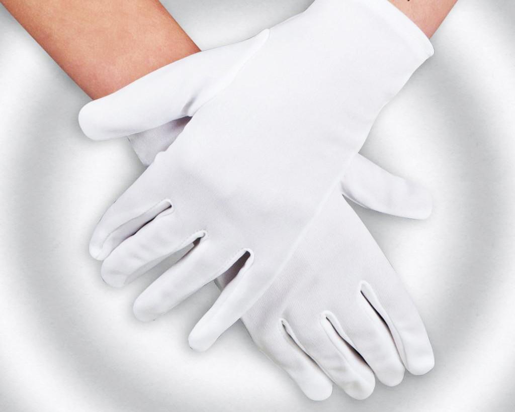 Перчатки для официантов, белые (12 пар/уп) трикотажные, х/б