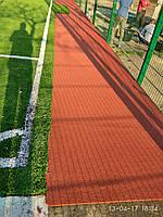 Укладка резинового безшовного покрытия для детских площадок, спортивных площадок, пешеходных дорожек.