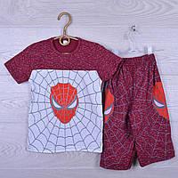 """Костюм детский """"Spider"""" для мальчиков. 7-12 лет. Красный меланж. Оптом"""