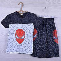 """Костюм детский """"Spider"""" для мальчиков. 7-12 лет. Черный меланж. Оптом"""
