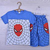 """Костюм детский """"Spider"""" для мальчиков. 7-12 лет. Синий меланж. Оптом"""