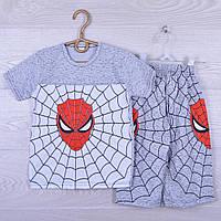 """Костюм детский """"Spider"""" для мальчиков. 7-12 лет. Светло серый меланж. Оптом"""