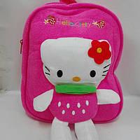 """Рюкзак детский мягкий с игрушкой - аппликацией """"Hello Kitty"""""""