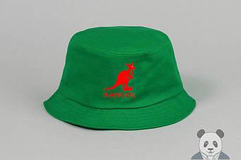 Панамка Kangol зеленая (люкс копия)