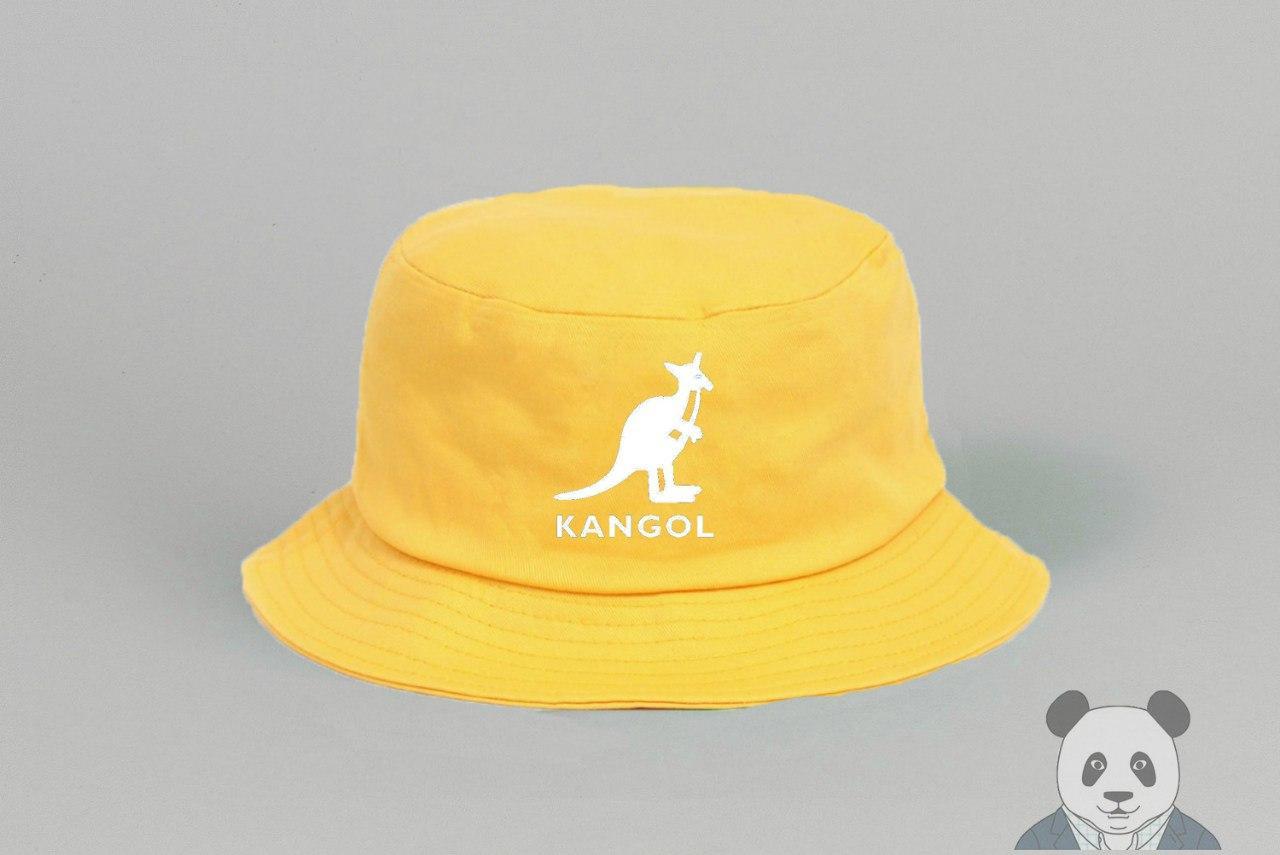 Панамка Kangol жовтого кольору (люкс копія)