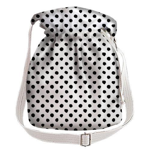 df60b36eab31 Белая сумка торба женская с принтом Горохи, цена 365 грн., купить в ...