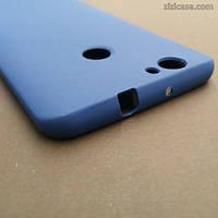Силиконовый матовый чехол для Huawei Nova (синий)