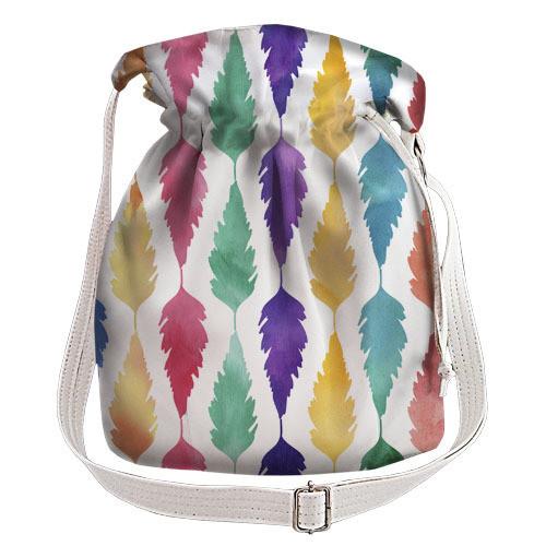 e507e0de2287 Белая сумка торба женская с принтом Перо, цена 365 грн., купить в ...
