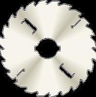 Пила D300B3,2b2,2d80z24+2+2 с подрезными ножами. Корпус с никелевым покрытием GDA Италия