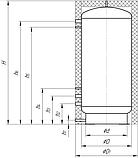 Теплоаккумуляторы ТА0.4000 л буферные емкости эконом Kronas., фото 6