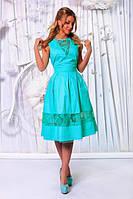 Летнее платье ниже колен