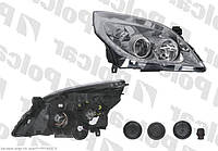 Фара правая 05-08 серебр отраж Opel Vectra C 01-08