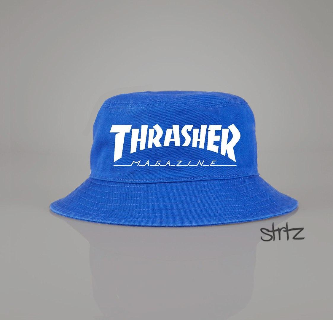 Панамка Thrasher голубая (люкс копия)