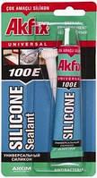 Универсальный силиконовый герметик   Akfix 100E 50 мл.