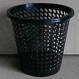 Пластиковая корзина (ведро) для мусора (бумаг) (черный коричневый серый), фото 4