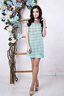 Мятное женское платье Амалия ТМ Irena Richi 42-48 размеры
