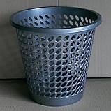 Пластиковая корзина (ведро) для мусора (бумаг) (черный коричневый серый), фото 2