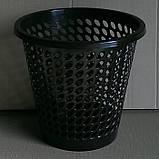 Пластиковая корзина (ведро) для мусора (бумаг) (черный коричневый серый), фото 3