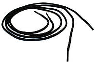 Шнурки для обуви Модельные (70см) круглые, черные, фото 1