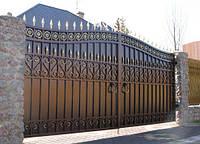 Ворота с элементами ковки, фото 1